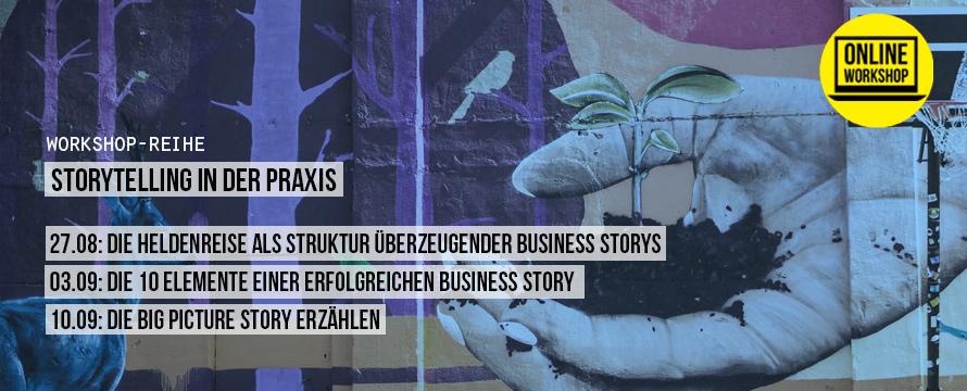 Workshop-Reihe: Storytelling in der Praxis in der School of Life, Berlin